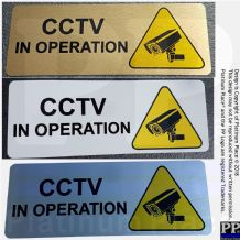 CCTV In Operation-WITH IMAGE-Aluminium Metal Sign-Door,Notice,Office,Business,Security,Camera,Home